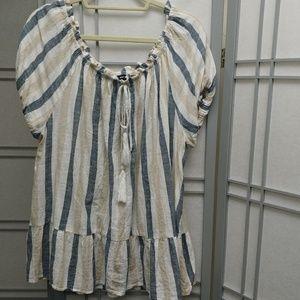 🔆Unique Spectrum 100% cotton blouse Sz 2X